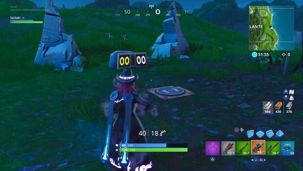 Fortnite Battle Royale - Galería de tiro al este de Alameda Aullante