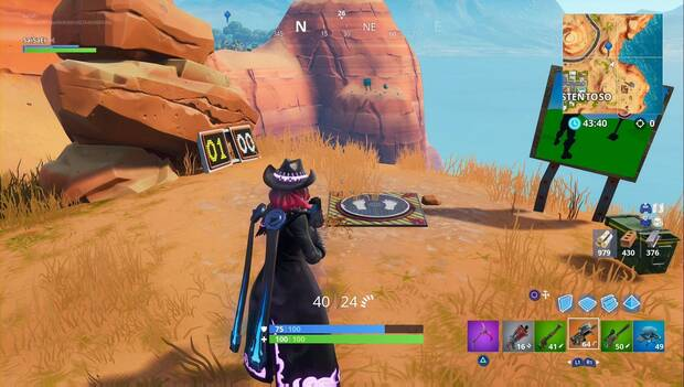 Fortnite Battle Royale - galería de tiro al este de Oasis Ostentoso