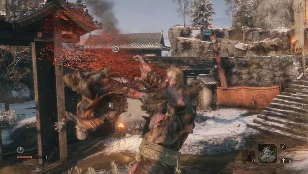 Sekiro - Alrededores de Ashina: El ogro encadenado muere