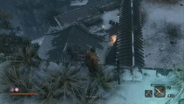 Sekiro - Castillo Ashina: Patio lleno de objetos