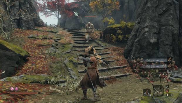Sekiro - Templo Senpo: atrae al gigante con la maza en solitario