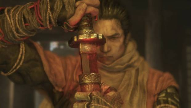 Sekiro - Templo Senpo: Sekiro desenvaina la Espada Mortal