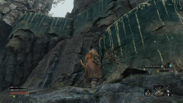 Sekiro - Templo Senpo: Cornisa para seguir subiendo