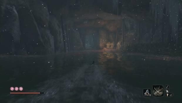 Sekiro - Valle sumergido: el túnel escondido detrás de la serpiente