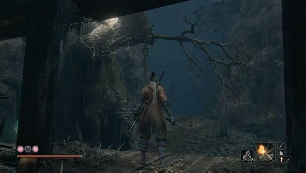 Sekiro - Profundidades de Ashina: camino a seguir en el bosque