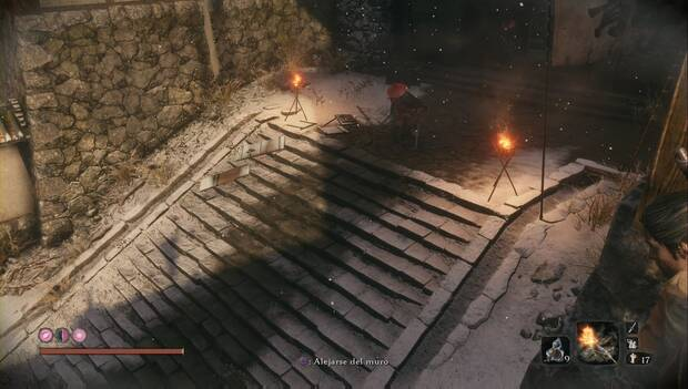 Sekiro - Regreso al Castillo Ashina: los shinobi salen a la escalinata