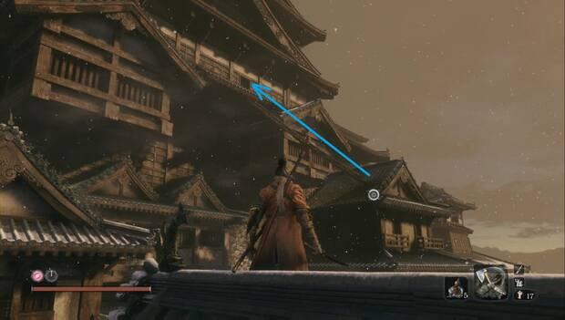 Sekiro - Regreso al Castillo Ashina: la nueva ruta para llegar al tejado del castillo