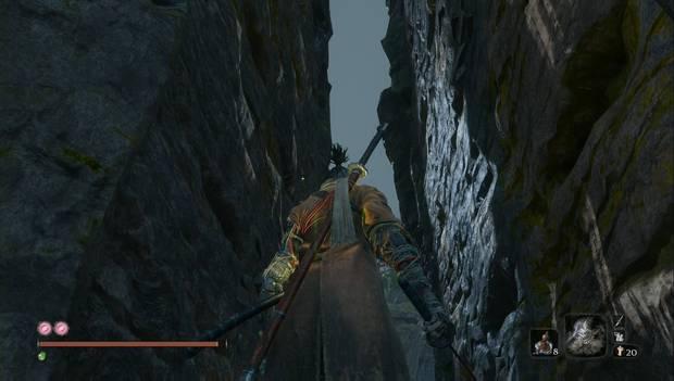 Sekiro: Shadows Die Twice - Farmeo rápido: rebota por las paredes para llegar arriba