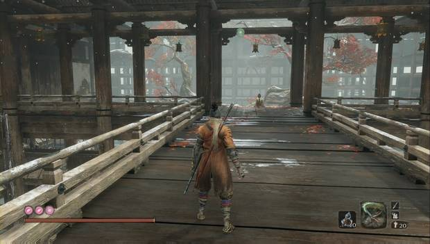 Sekiro - Finales Purificación: la Niña Celestial en el templo de los Monos del Biombo