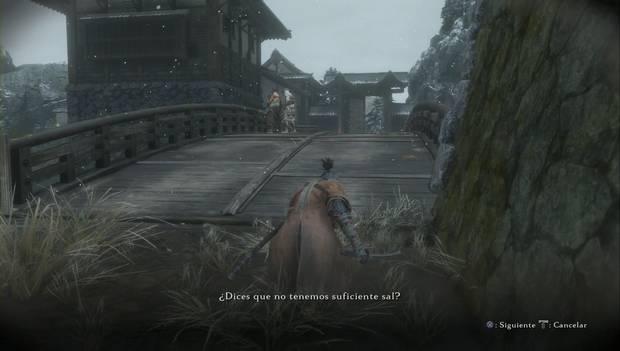 Sekiro: Shadows Die Twice - NPCs en el río que hablan sobre la sal