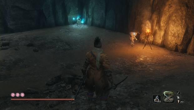 Sekiro: Shadows Die Twice - Tejón de los Sombreros Negros en la Cueva Hendida
