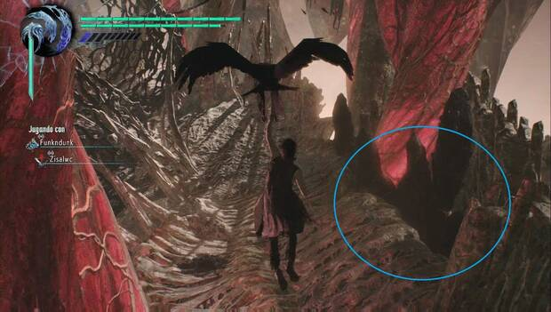 Devil May Cry 5 - Hueco hasta el Fragmento de Gema Púrpura de la misión 14