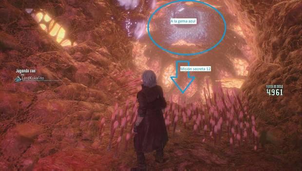 Devil May Cry 5 - Rutas a gemas azules y misión secreta de la misión 16