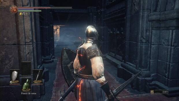 Dark Souls III - Catedral de la oscuridad: gira a la izquierda después de escapar del gigante