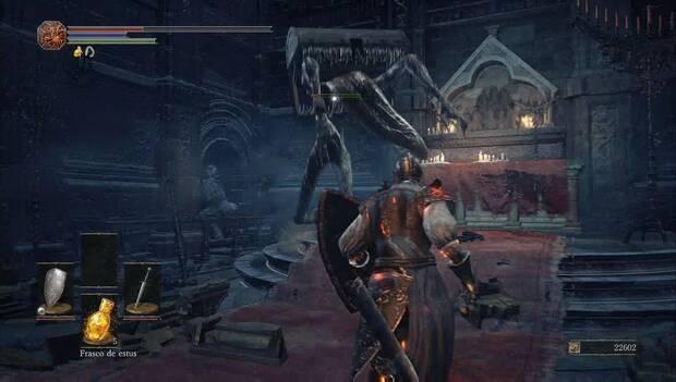 Dark souls III - Catedral de la oscuridad: un cofre mímico que se ha vuelto violento