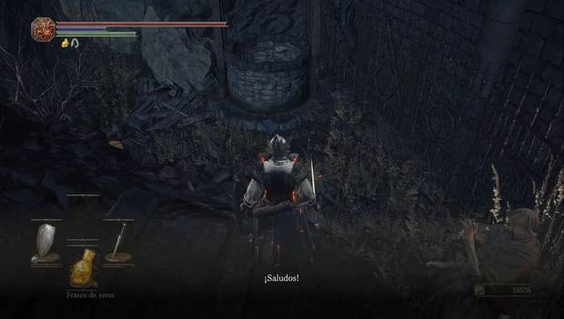 Dark Souls III - Catedral de la Oscuridad: agluien está atrapado en el pozo