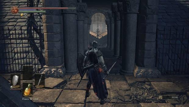 Dark Souls III - Catedral de la Oscuridad: acceso a las vigas del techo de la Catedral