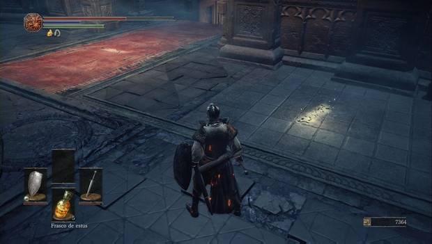 Dark Souls III - Catedral de la oscuridad: señales de invocación de anri y horaces tras el altar