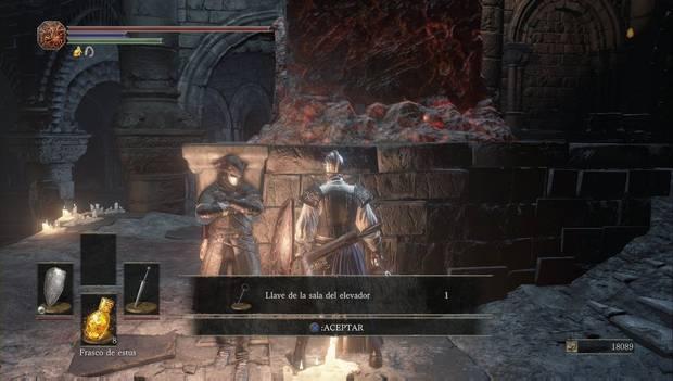 Dark Souls III - Catedral de la Oscuridad: Leonhardt te da la llave de la sala del elevador