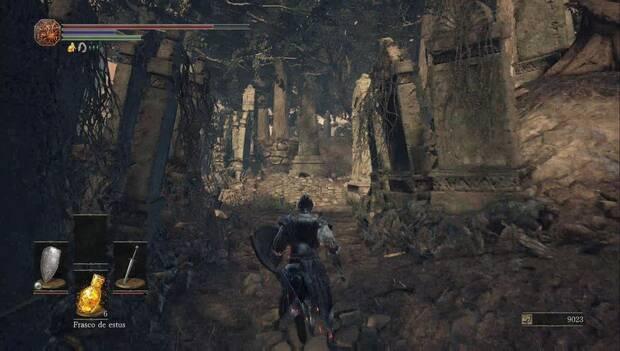 Dark souls III - Catedral de la Oscuridad: Espadón de Astora en el cementerio de la catedral
