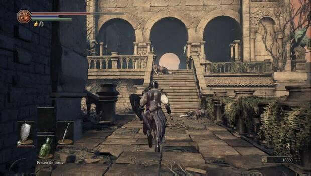 Dark Souls III - Catedral de la Oscuridad: terraza con las zombis con espadas dobles