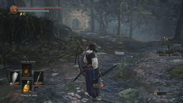 Dark Souls III - Torreón de Farron: abertura en la muralla antes del jefazo del torreón de farron