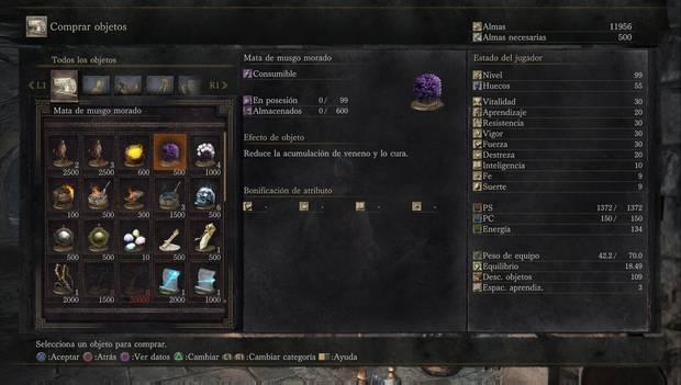 Dark Souls III - Torreón de Farron: mata de musgo morado para curar el veneno