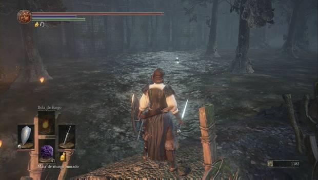 Dark Souls III - Torreón de Farron: fragmento de titanita cerca de la fogata