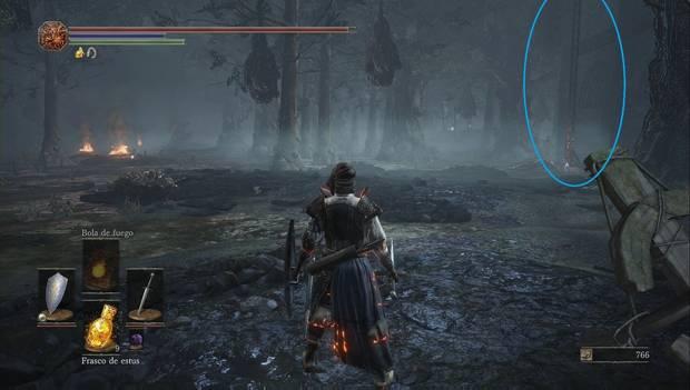 Dark Souls III - Torreón de Farron: escalera para subir a la torre del Juramento de los Lobos