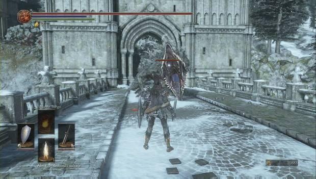 Dark Souls III - Irithyll del Valle Boreal: un gigantesco monstruo aparece en el puente de Irithyll