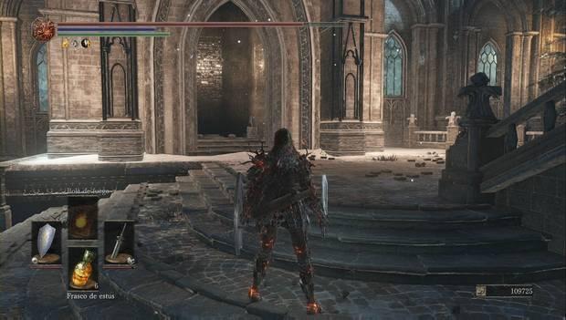 Dark Souls III - Irithyll del Valle Boreal: ascensor que abre el atajo a la escalinata principal de Irithyll