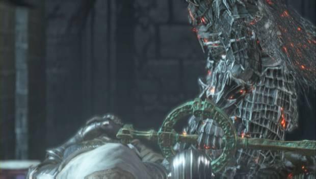 Dark Souls III - Irithyll del Valle Boreal: el Latente apuñala a Anri