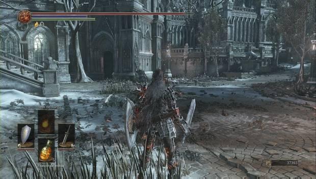 Dark Souls III - Irithyll del Valle Boreal: desvío del camino principal desde la fuente