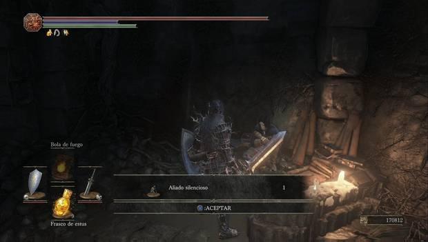 Dark Souls III - Mazmorra de Irithyll: gesto aliado silencioso recibido de Orbeck