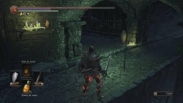 Dark souls III - Mazmorra de Irithyll: pasillo hacia el nivel inferior de la mazmorra