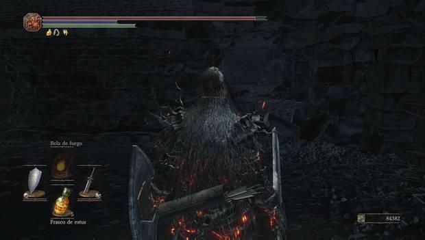 Dark souls III - Mazmorra de Irithyll: agujero en la pared de una de las celdas