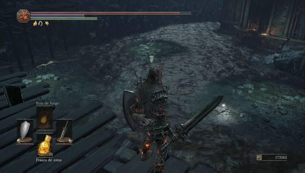 Dark Souls III - Capital Profanada: pantano venenoso en la capital profanada