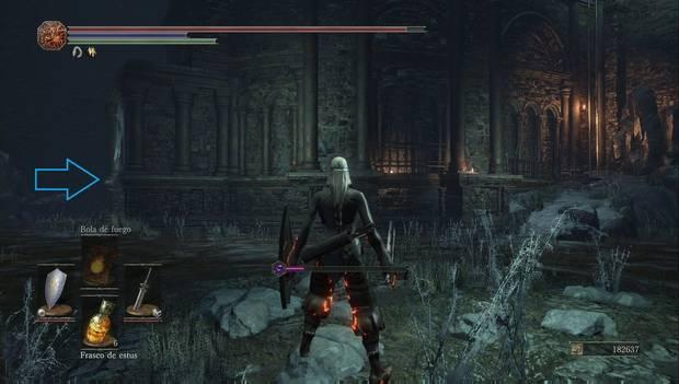 Dark Souls III - Capital Profanada: acceso en el lado izquierdo de la torre