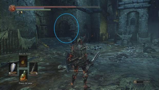 Dark Souls III - Capital Profanada: pasillo a la celda de Karla