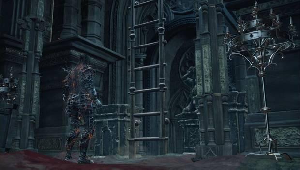 Dark Souls 3 - Gran Muro de Lothric: la escalera que lleva al castillo desciende