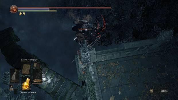 Dark Souls 3 - Jardín del Rey Consumido: bestia de ceniza en la charca venenosa