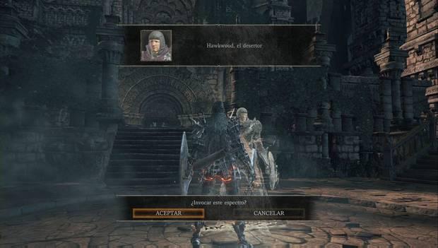 Dark Souls 3 - Jardín del Rey consumido: Señal de invocación de Hawkwood