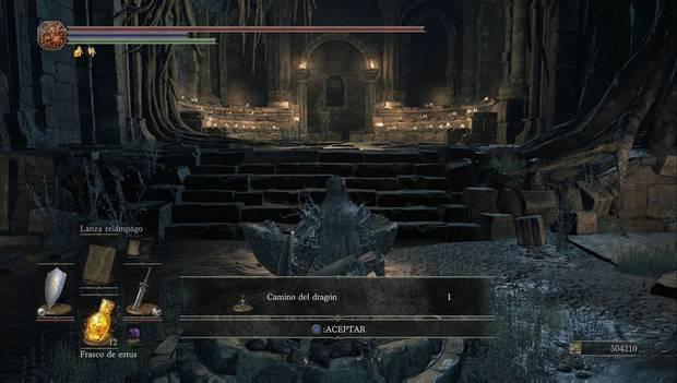 Dark Souls 3 - Jardín del Rey Consumido: gesto Camino del dragón después del combate con Oceiros