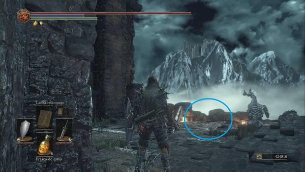 Dark Souls 3 - Pico del Archidragón: punto en el que usar el gesto del dragón