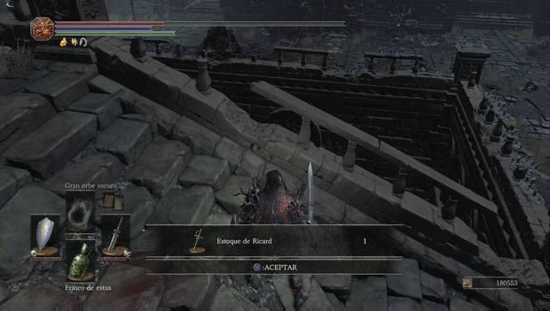 Dark Souls 3 - Pico del Archidragón: Estoque de Ricard