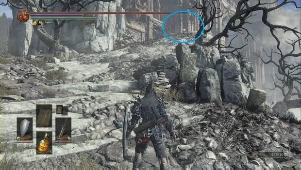 Dark Souls 3 - Pico del Archidragón: gema de electricidad en lo alto de la colina