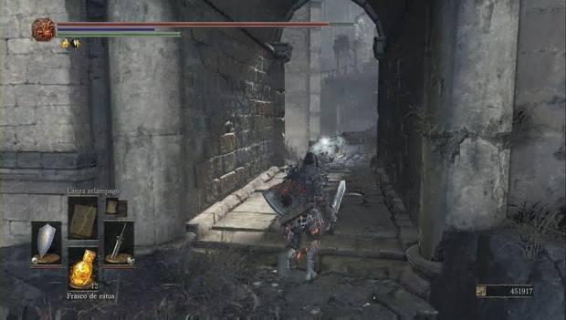 Dark Souls 3 - Pico del Archidragón: ubicación del anillo de agarre eléctrico