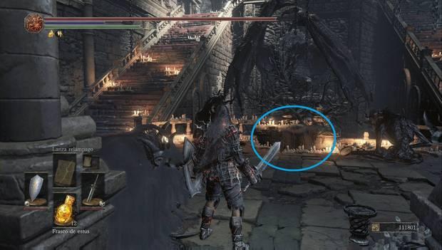 Dark Souls 3 - Pico del Archidragón: punto en el que sentarte para conseguir el Anillo de la calamidad