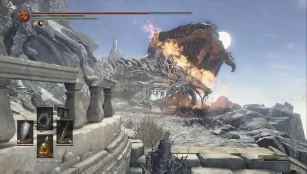 Dark Souls 3 - Pico del Archidragón: segundo dragón anciano en las escaleras