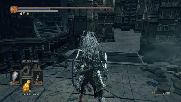 Dark Souls 3 - Gran Archivo: Losa de titanita oculta entre las librerías